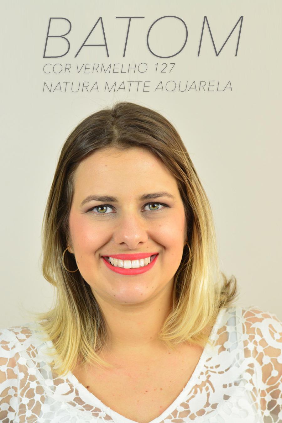 Novos Batons Natura Aquarela Matte - Cor Vermelho