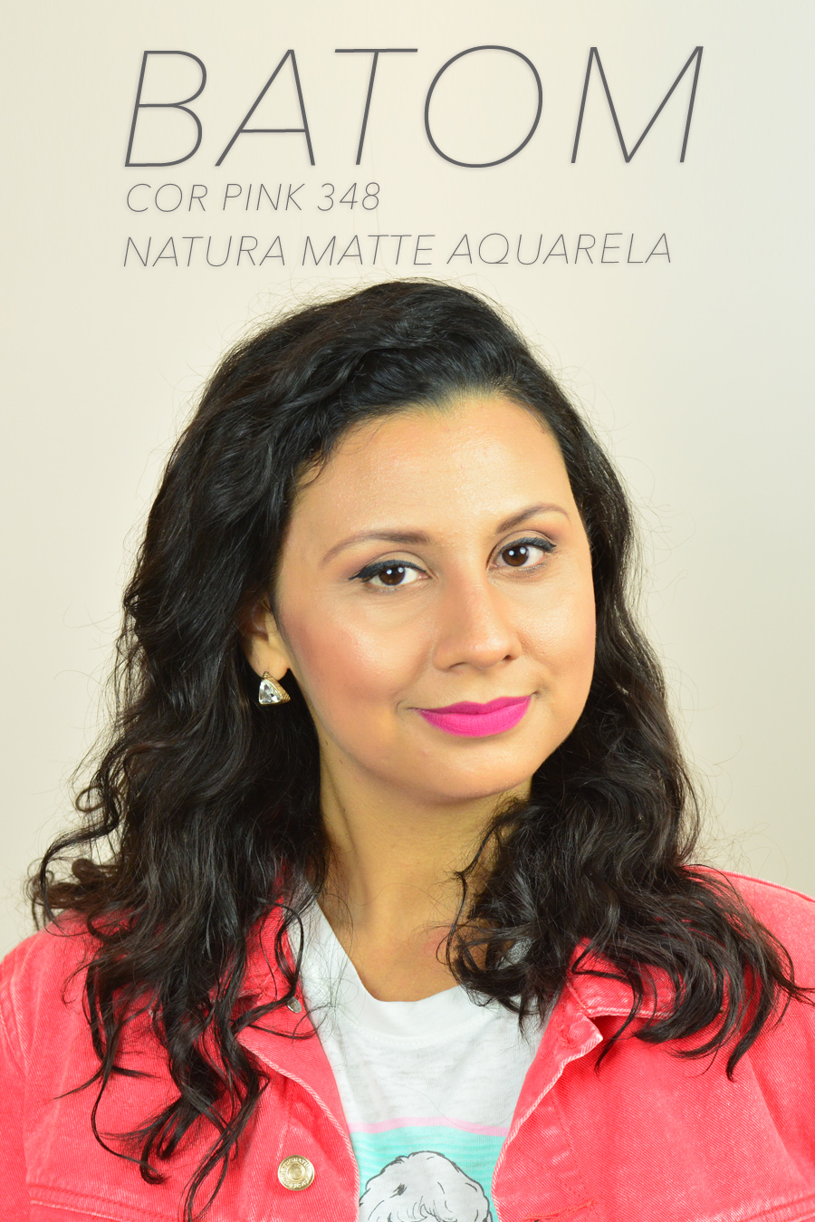 Novos Batons Natura Aquarela Matte - Cor Pink